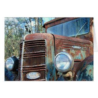 誕生日、ヴィンテージのトラック、ユーモア カード