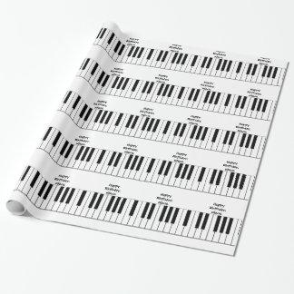 誕生日、姪、ピアノ鍵、ギフト用包装紙 ラッピングペーパー