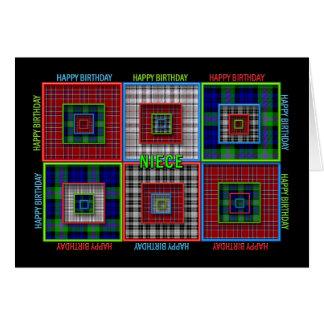 誕生日-抽象芸術-姪 カード
