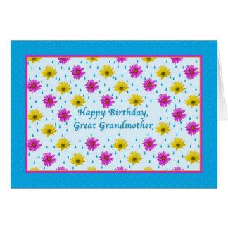 誕生日、曾祖母、デイジー グリーティングカード