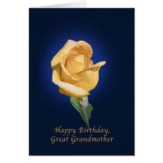 誕生日、曾祖母、黄色バラの芽 カード