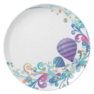 誕生日|気球 皿