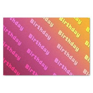 誕生日(決闘色のピンク) 薄葉紙