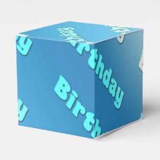 誕生日(淡いブルーの) フェイバーボックス