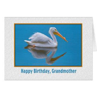 誕生日、祖母、モモイロペリカン カード