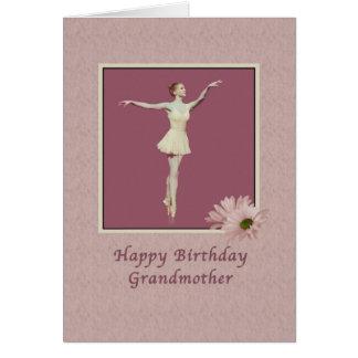 誕生日、祖母、Pointeのバレリーナ グリーティングカード