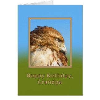 誕生日、祖父、荒脚のタカ カード