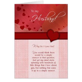 誕生日-私の夫への… カード