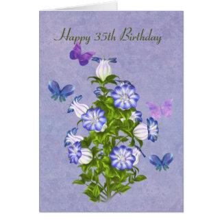 誕生日、第35、蝶および鐘花 カード