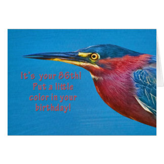 誕生日、第86緑の鷲の鳥 カード