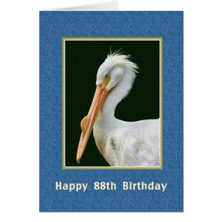 誕生日、第88のアメリカのモモイロペリカンの鳥 グリーティングカード