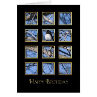誕生日-自然-鳥-窓 カード