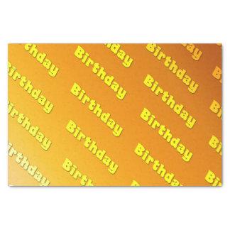 誕生日(黄色) 薄葉紙