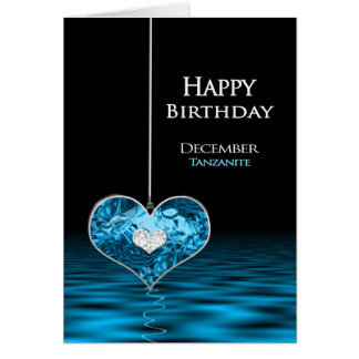 誕生日- Birthstone - 12月- Tanzanite グリーティングカード