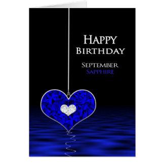 誕生日- Birthstone - 9月-サファイア グリーティングカード