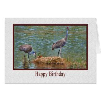 誕生日、Sandhillクレーン家族カード カード