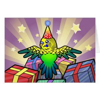 誕生日Budgie カード