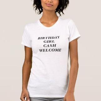 誕生日GIRLCASHの歓迎 Tシャツ
