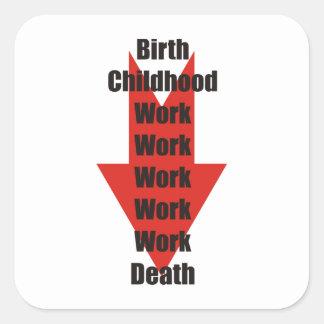 誕生、仕事および死のおもしろいな取得 スクエアシール