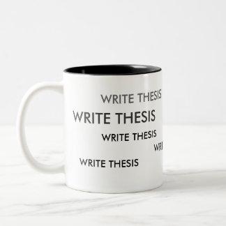 説のメモのマグを書いて下さい ツートーンマグカップ