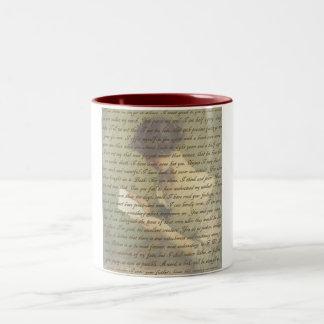 説得の手紙 ツートーンマグカップ