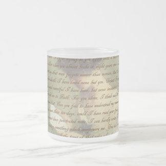 説得の手紙 フロストグラスマグカップ