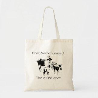 説明されるヤギの数学 トートバッグ