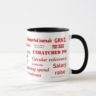 説明は不敬な言葉を! 失礼な会計の虚辞 マグカップ