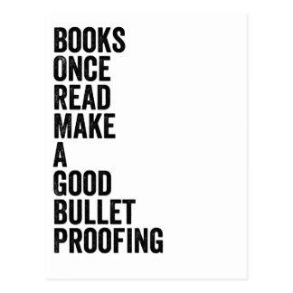 読まれる本、 ポストカード