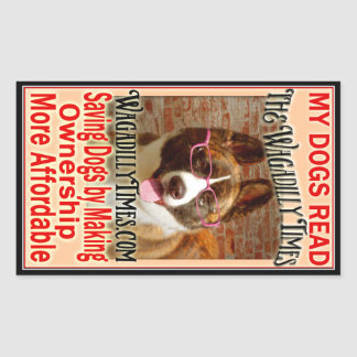 読まれる私の犬- Nikki 長方形シール