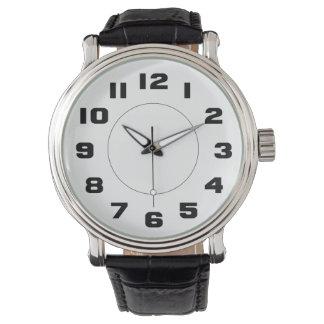 読みやすいシンプルな白黒大きい数 腕時計
