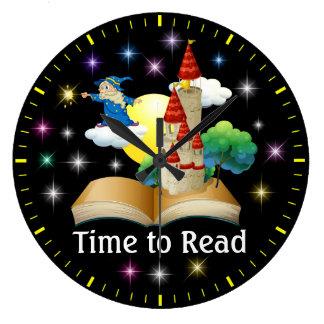 -読み書き能力の柱時計- SRFを読む時間 ラージ壁時計