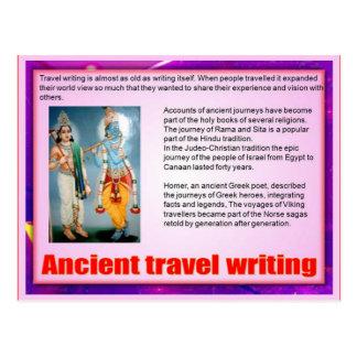 読み書き能力、旅行執筆、古代旅行執筆 ポストカード