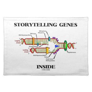 読み聞かせの遺伝子の内部(DNAの写し) ランチョンマット