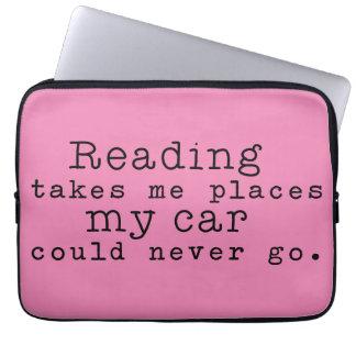 読むことは私に場所を取ります ラップトップスリーブ