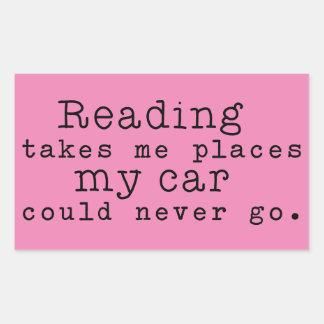 読むことは私に場所を取ります 長方形シール