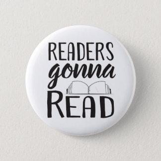 読むことを行っている読者 5.7CM 丸型バッジ