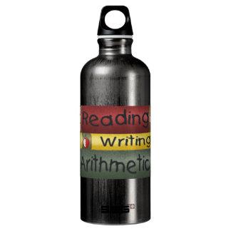 読書および執筆および算術 ウォーターボトル