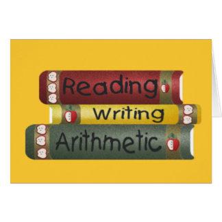 読書および執筆および算術 カード
