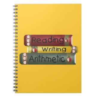 読書および執筆および算術 ノートブック
