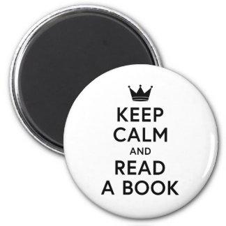 読書が好き平静を保ち、本を読んで下さい マグネット