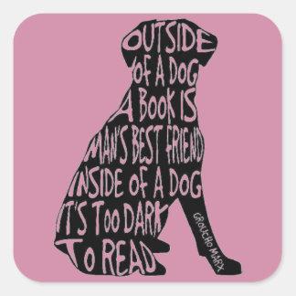 読書に余りに暗い スクエアシール