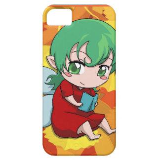 読書に学んでいるマンガの妖精 iPhone SE/5/5s ケース