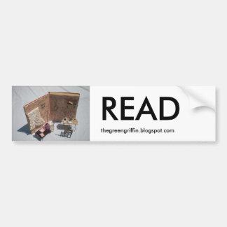 読書のバンパーステッカー バンパーステッカー