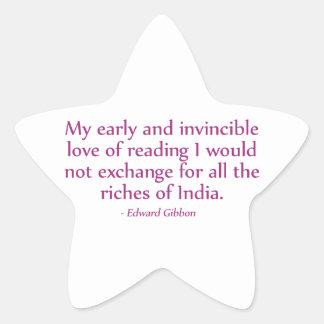 読書の私の早く、無敵愛 星シール