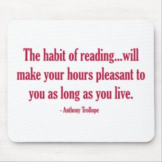読書の習慣はあなたの時間を気持が良くさせます マウスパッド