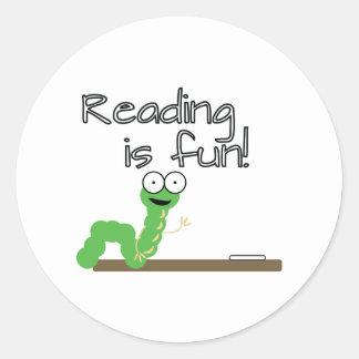 読書はおもしろいです! ラウンドシール