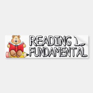 読書は基本的なバンパーステッカーです バンパーステッカー