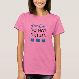 読書は妨げません Tシャツ