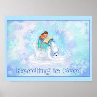 読書は涼しいです ポスター
